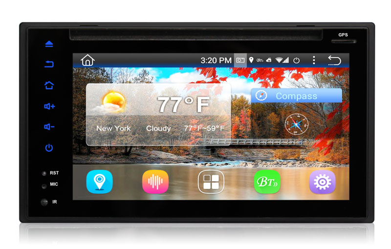 "2DIN autorádio s 6,2"" LCD, Android 4.4.4, WI-FI, DVD, USB, GPS, bluetooth 80821A 80821a"