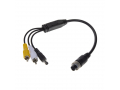 Kabel video 4pin samice  /  RCA + DC SVkab4pin