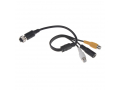 Kabel video 4pin samice  /  RCA samice + DC SVkab4pin2